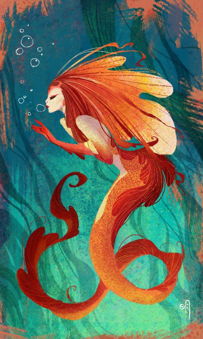 Mermaid Concept Art Illustration 01 Mingjue Helen Chen