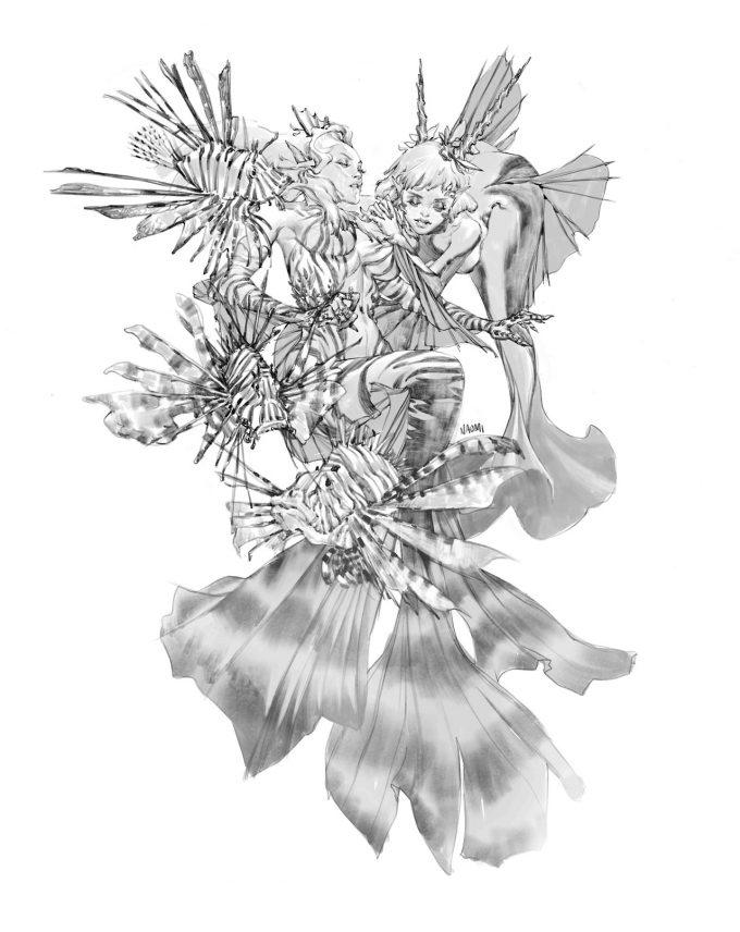 Mermaid Concept Art Illustration 01 Naomi Baker Mermaids