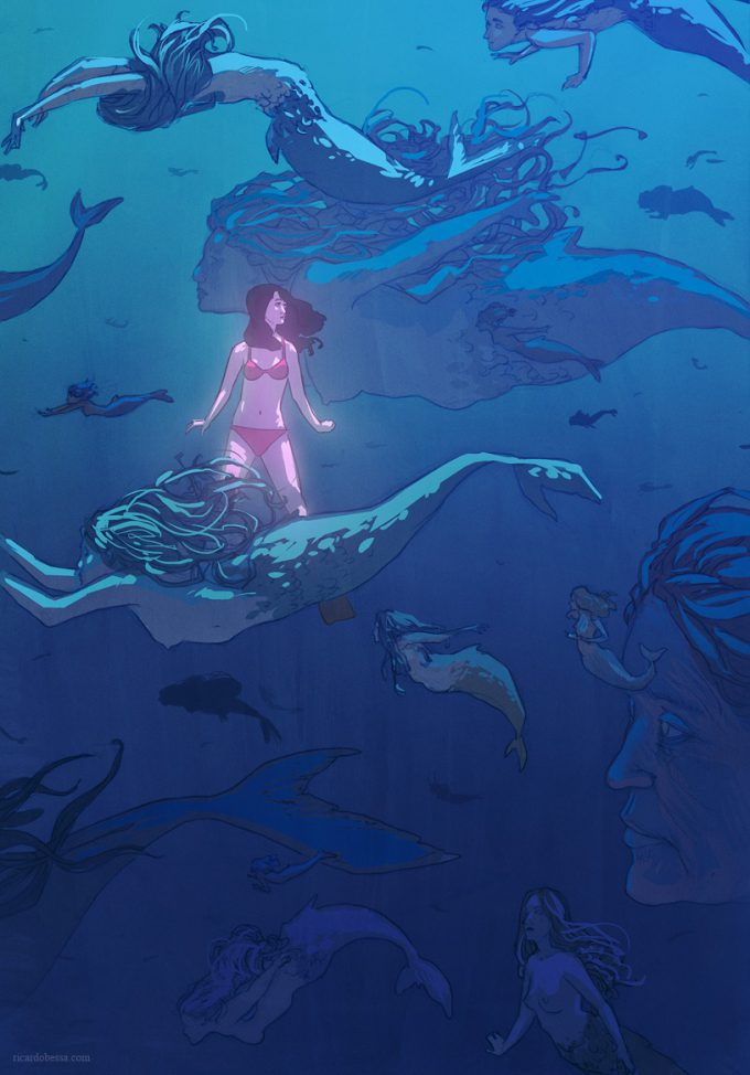 Mermaid Concept Art Illustration 01 Ricardo Bessa Mermaids