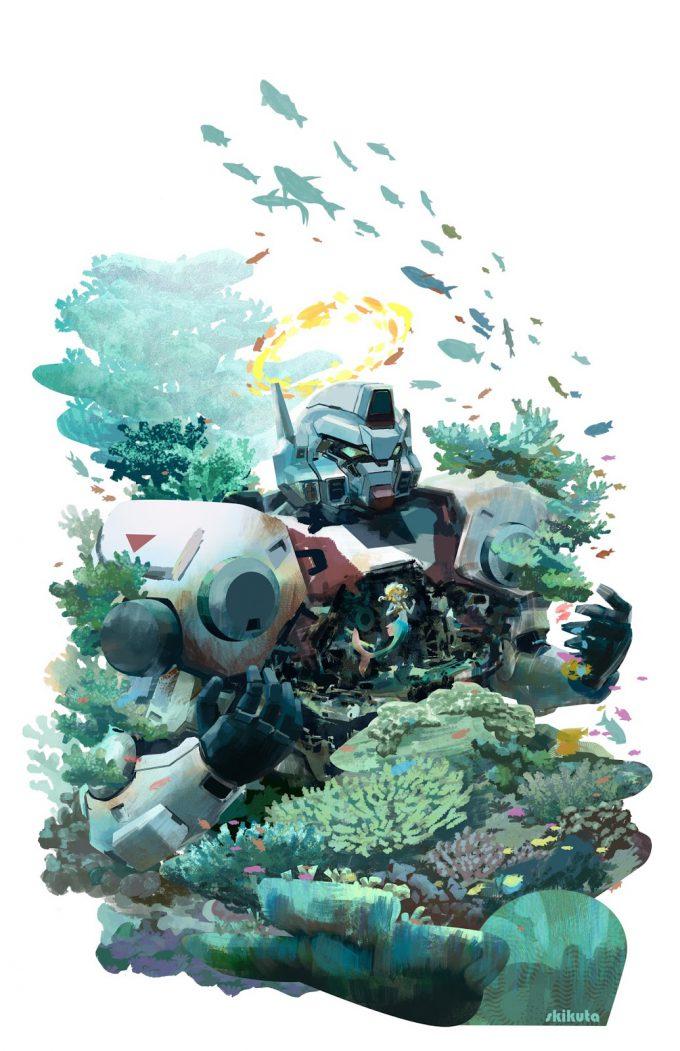 Mermaid Concept Art Illustration 01 Scott Kikuta Little Mer Mech