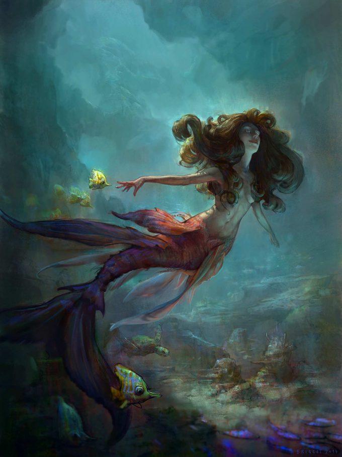 Mermaid Concept Art Illustration 01 Thomas Brissot mermaid faton virgule