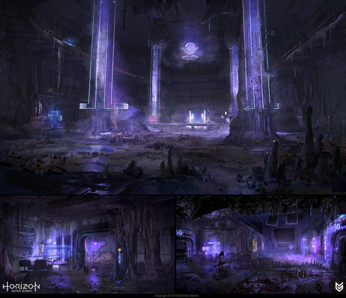horizon zero dawn concept art lloyd allan hrz bunker concepts 02 lloyd allan