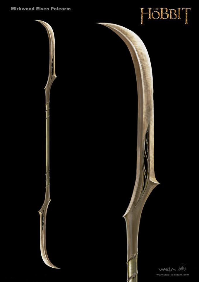 paul tobin concept art hobbit polearm