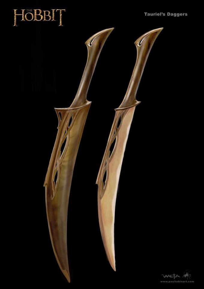 paul tobin concept art hobbit tauriel daggers