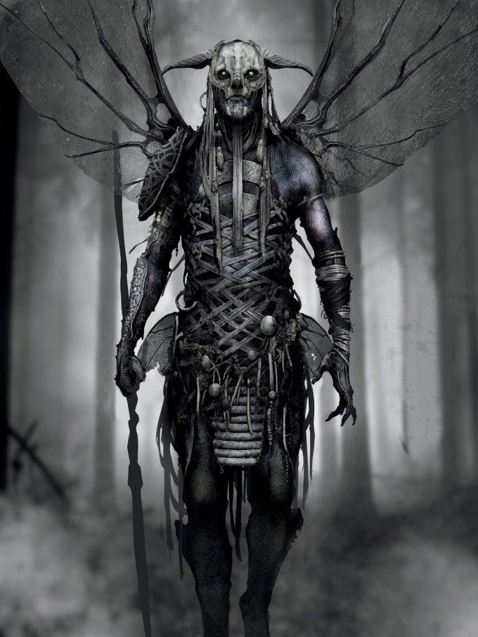The Art of God of War Concept Art World 087 Dark Elf Dela Longfish 01