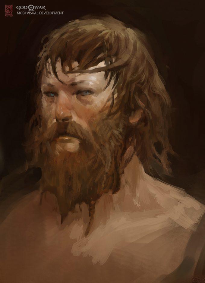 God of War Concept Art Vance Kovacs aogwar vk modi head2 002