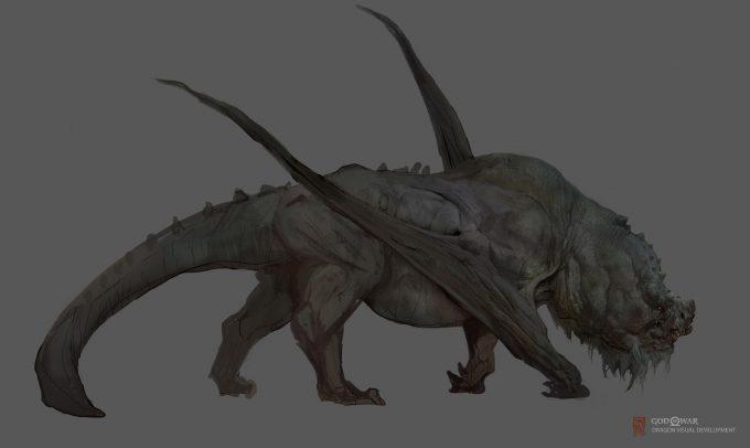 God of War Concept Art Vance Kovacs dragon 1b