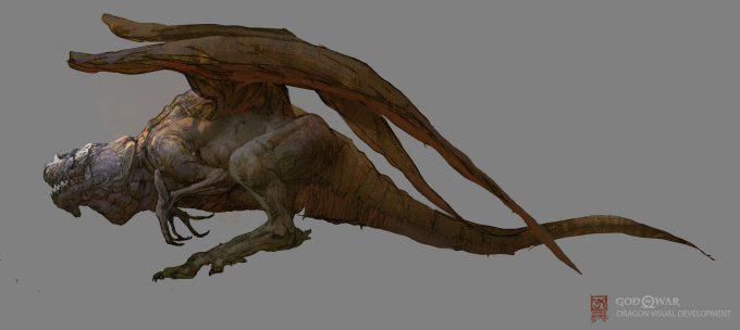 God of War Concept Art Vance Kovacs dragon f4b