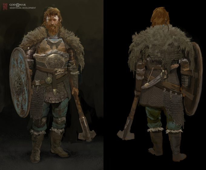 God of War Concept Art Vance Kovacs magni shield07