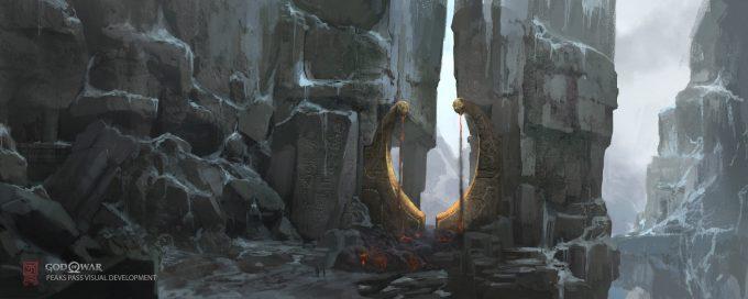 God of War Concept Art Vance Kovacs peaks pass gate extension