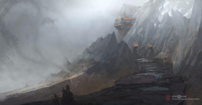 God of War Concept Art Vance Kovacs peaks pass stone