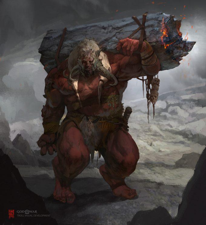 God of War Concept Art Vance Kovacs red troll9