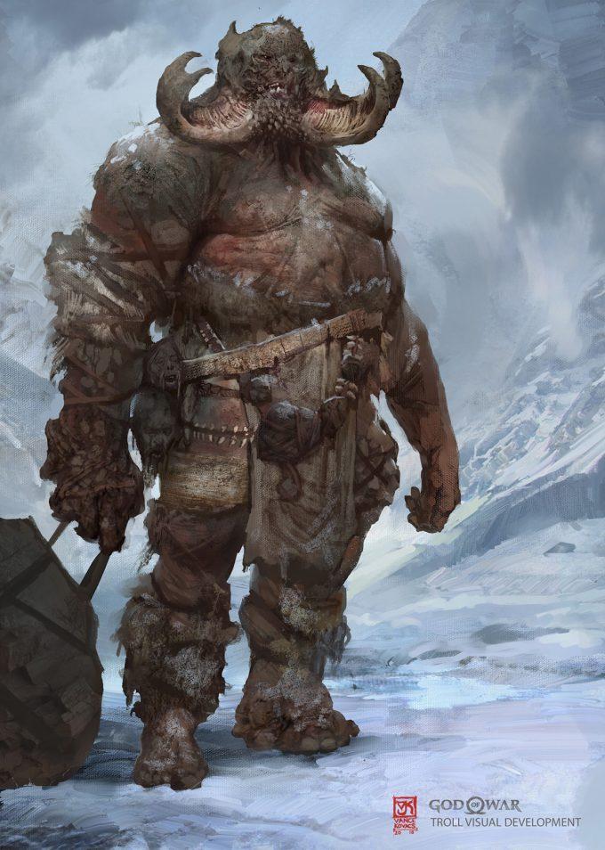 God of War Concept Art Vance Kovacs troll costume e3 final 003 1