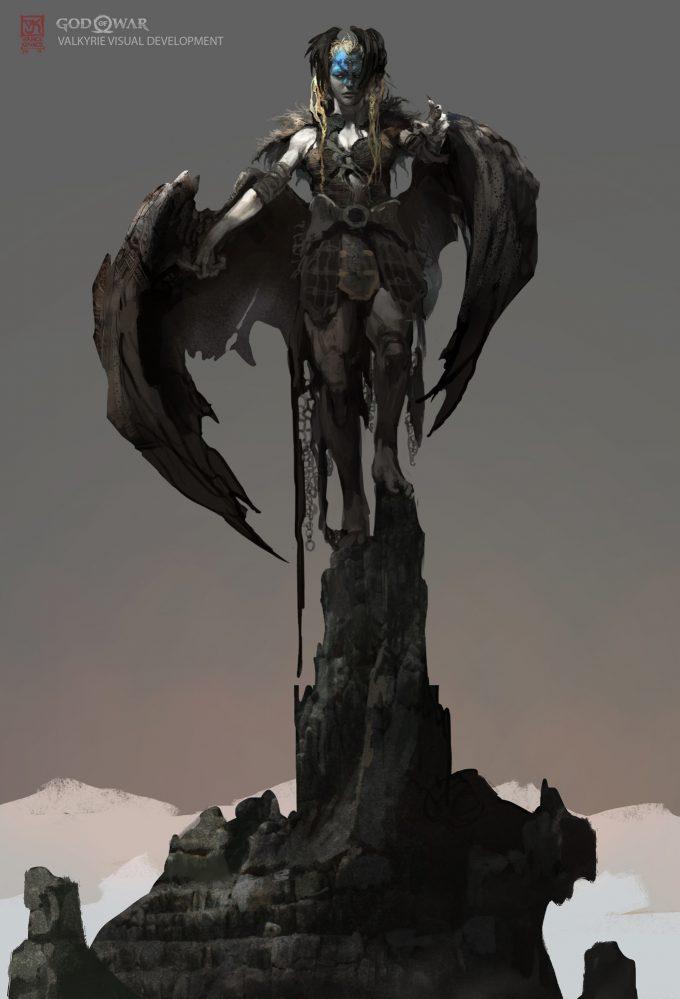 God of War Concept Art Vance Kovacs valkarie 9xhfgh