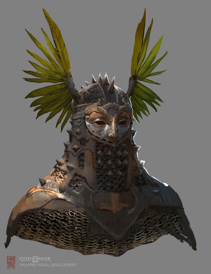 God of War Concept Art Vance Kovacs valkarie hex 588