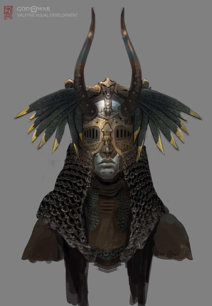 God of War Concept Art Vance Kovacs valkyrie hex d4