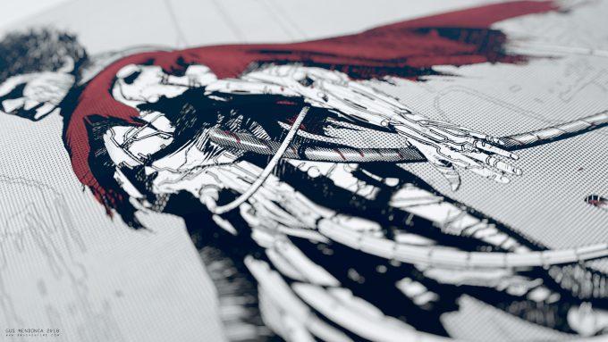 Gus Mendonca Akira Sketch detail 01