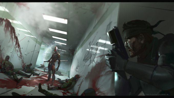 Metal Gear Solid Film Concept Art Ignacio Bazan Lazcano cyborg ninja 04 option b