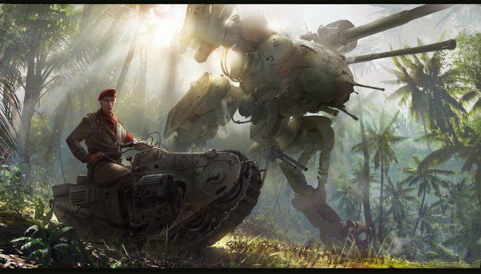 Metal Gear Solid Film Concept Art Ignacio Bazan Lazcano mech keyframe