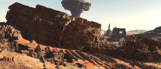 Avengers Infinity War Concept Art Olivier Pron 003 EXT Titan1 ColonyA V1 162104 OP