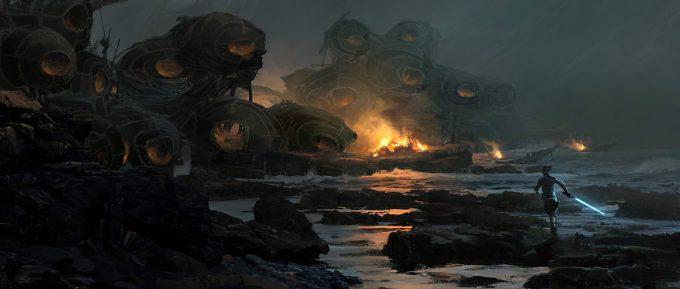 Star Wars The Last Jedi CaretakerVillage v03 SethEngstrom conceptart