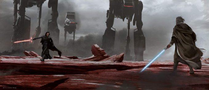 Star Wars The Last Jedi CraitSaberStandoff SethEngstrom ConceptArt