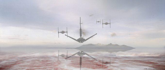 Star Wars The Last Jedi MineBaseShuttleApproach SethEngstrom ConceptArt