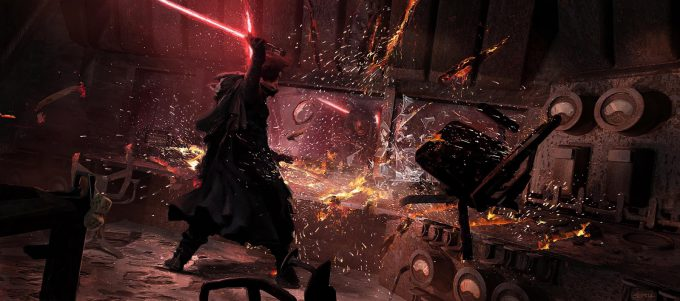 Star Wars The Last Jedi MineControlCenter KyloDestroysRoom SethEngstrom ConceptArt