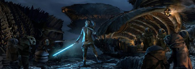Star Wars The Last Jedi TempleIsland CaretakerArrival TheLastJedi SethEngstrom conceptart