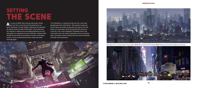 Spider Man Into the Spider Verse The Art of the Movie Book 02
