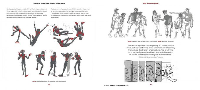 Spider Man Into the Spider Verse The Art of the Movie Book 04