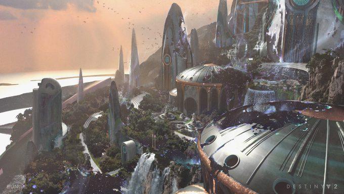 Destiny 2 Forsaken Concept Art Sung Choi Dreaming City High View