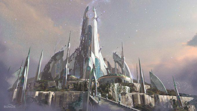 Destiny 2 Forsaken Concept Art Sung Choi Dreaming City Low View