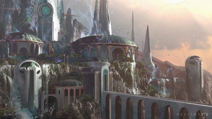 Destiny 2 Forsaken Concept Art Sung Choi Dreaming City Mid View