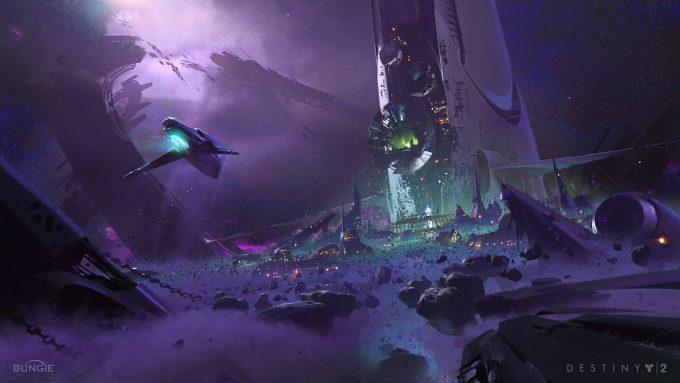 Destiny 2 Forsaken Concept Art Sung Choi The Tangled Shore