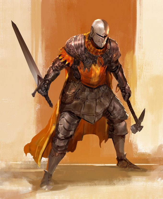 Knight Sketch Collection Concept Art Kekai Kotaki 06