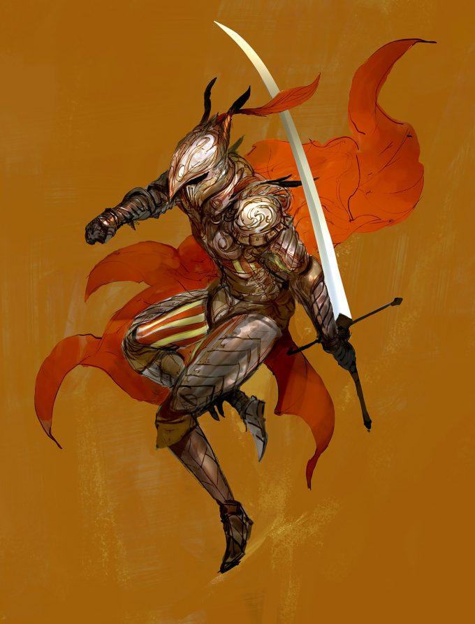 Knight Sketch Collection Concept Art Kekai Kotaki 08