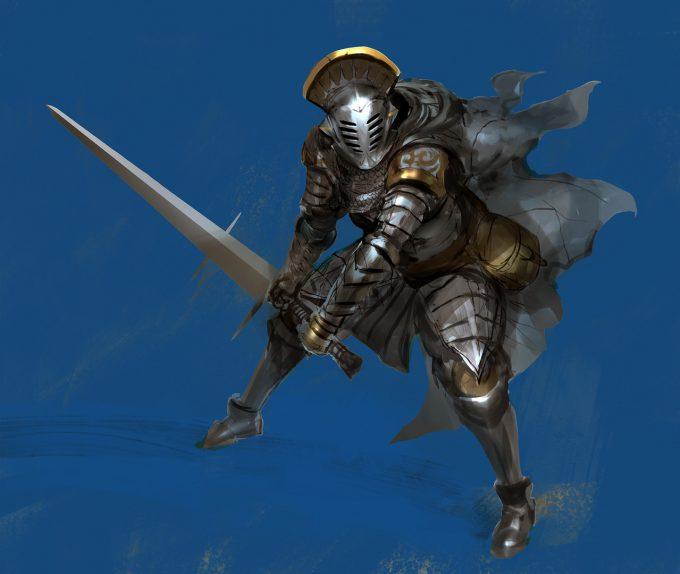 Knight Sketch Collection Concept Art Kekai Kotaki 12