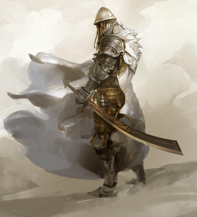 Knight Sketch Collection Concept Art Kekai Kotaki 14