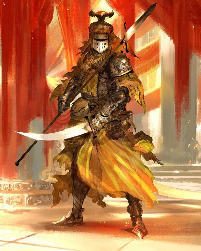 Knight Sketch Collection Concept Art Kekai Kotaki 17