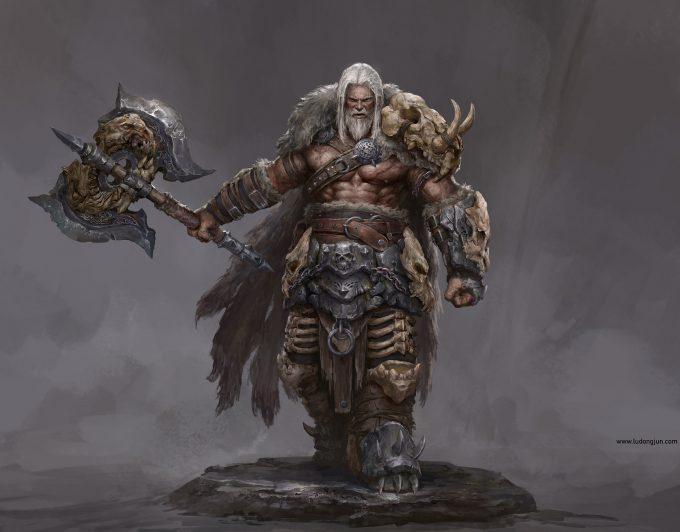 russell dongjun lu character concept art chieftan