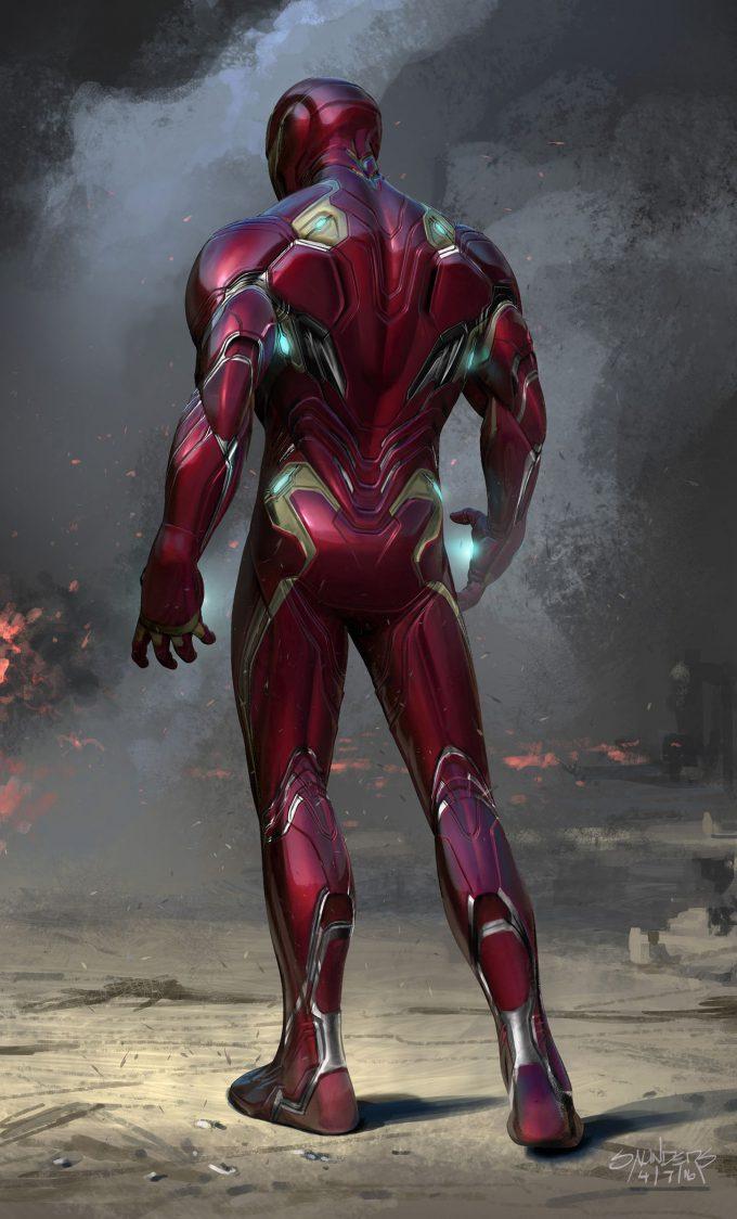 Avengers Infinity War Concept Art Phil Saunders im mk50 versionb back