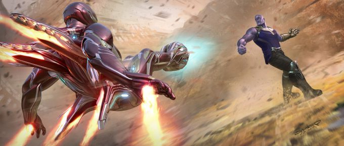 Avengers Infinity War Concept Art Phil Saunders immk50 weapons backthrusters