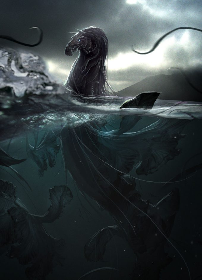 Fantastic Beasts The Crimes of Grindelwald Concept Art Dan Baker kelpie 14