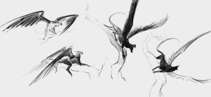Fantastic Beasts The Crimes of Grindelwald Concept Art Jama Jurabaev ilm griffin 006