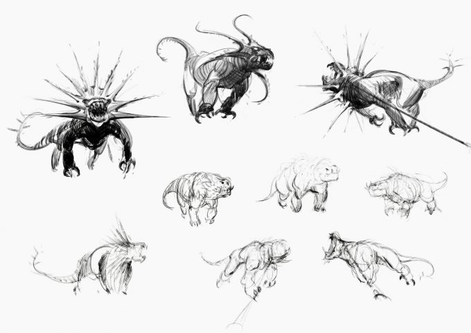 Fantastic Beasts The Crimes of Grindelwald Concept Art Jama Jurabaev peluda sketches