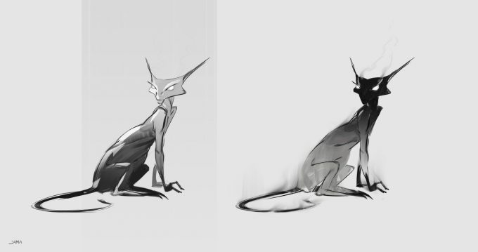 Fantastic Beasts The Crimes of Grindelwald Concept Art Jama Jurabaev voltaire matagots v0003
