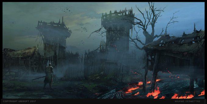 For Honor Game Concept Art Maxime Desmettre 01 village entrance gate