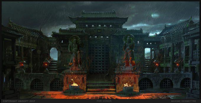 For Honor Game Concept Art Maxime Desmettre 02 intro fortressarena