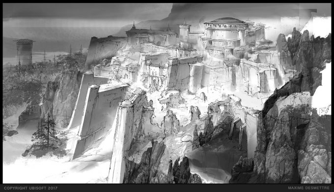 For Honor Game Concept Art Maxime Desmettre 03 plainsanctuary sketch